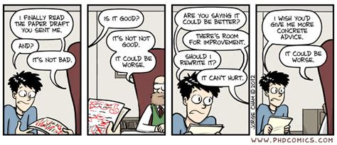 phd comics advisor how to politely ask my phd advisor to review my work