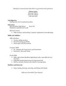Sample Resume Format Work Experience by Resume Example For Students With No Work Experience