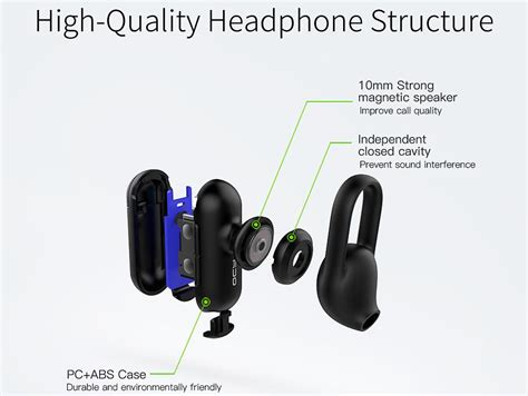 Qcy Q12 Mini Smart Bluetooth Headset 1 qcy q12 mini earphone bluetooth dengan mic black jakartanotebook