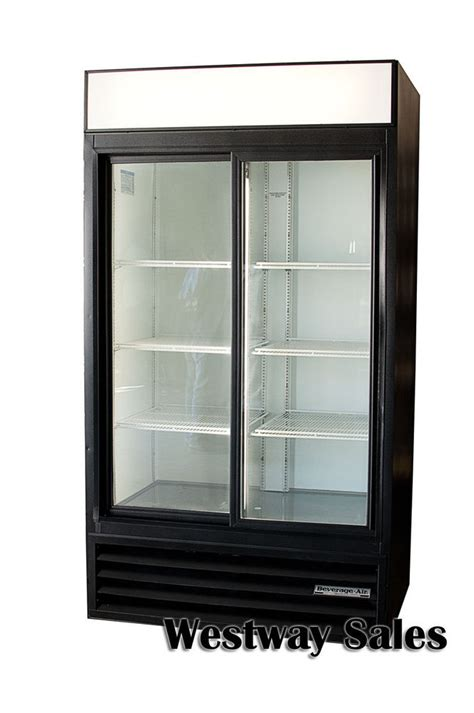 Beverage Refrigerator With Glass Door Beverage Air Mt38 Commercial 2 Sliding Glass Door Refrigerator Merchandiser Ebay