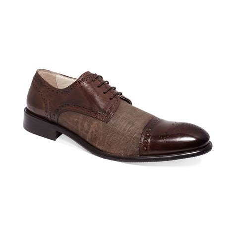 kenneth cole oxford shoes kenneth cole influence cap toe oxfords in brown for lyst