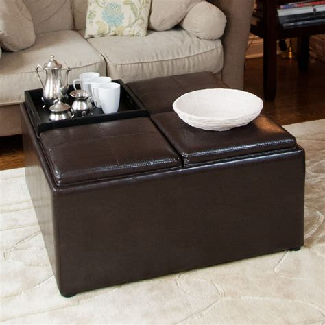 Padded Coffee Table With Storage Upholstered Coffee Table Designs Home Furniture And Decor