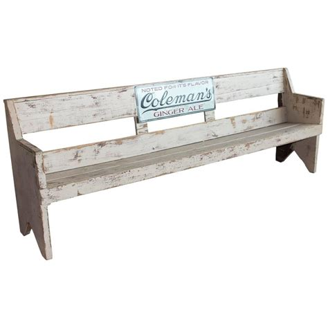 advertising bench vintage american advertising bench for sale at 1stdibs