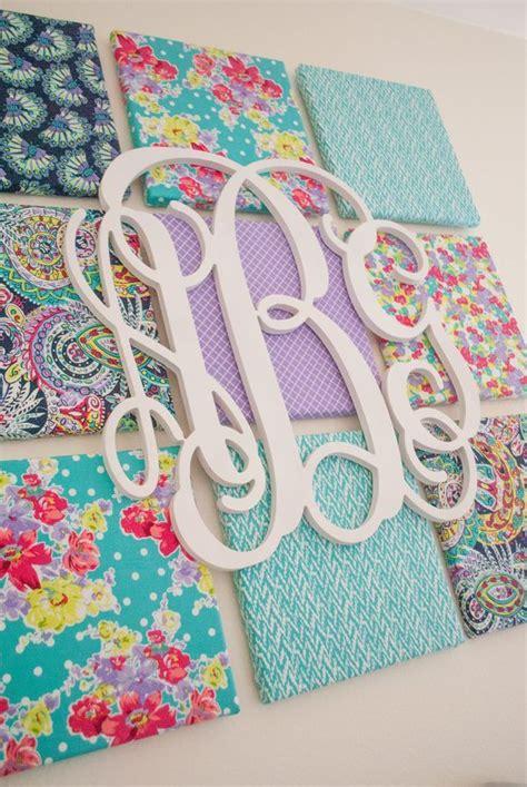 fabric crafts canvas diy fabric wall diy and crafts monogram wall