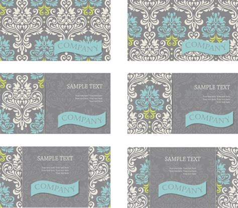 pattern of business card vintage floral pattern business cards vector free vector