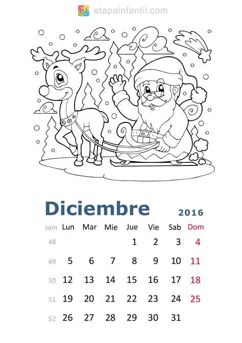 Calendario Y Sus Dibujos Calendario De 2016 Para Imprimir Y Colorear Etapa Infantil