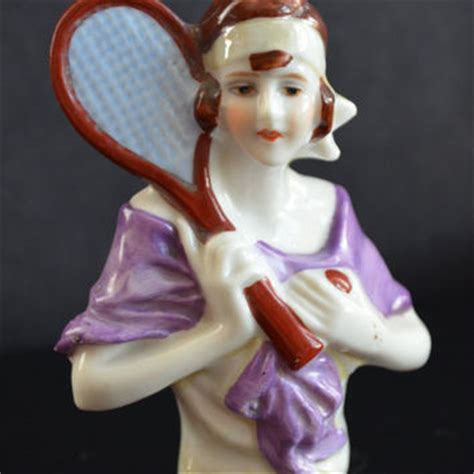 living doll nouveau dress half doll tennis deco flapper from christiescurios on