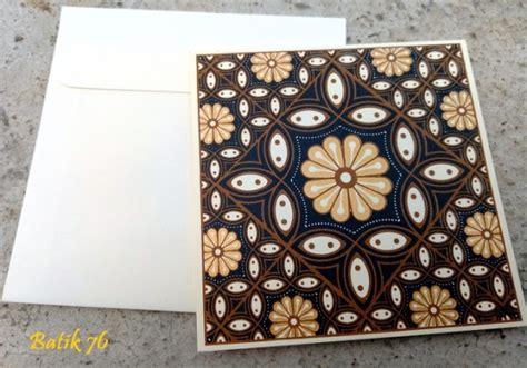 Kartu Ucapan Handmade Batik76 Motif 1 jual kartu ucapan handmade batik motif kawung size s kartu ucapan batik kartu ucapan ulang
