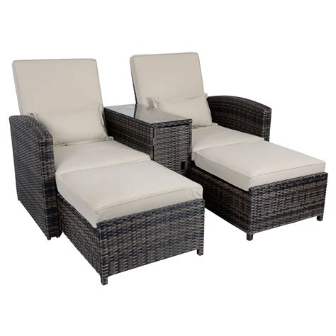 outdoor sun lounge chairs antigua rattan sun lounger companion relaxer chair outdoor