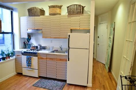 covering cabinets with contact paper 4 ways to disguise horrible ugly kitchen cupboards
