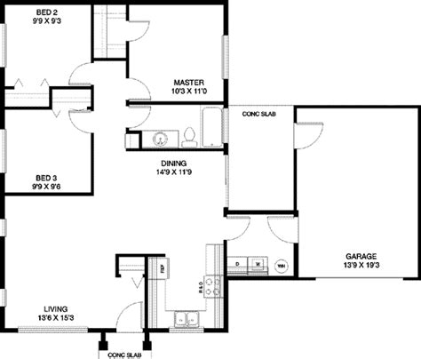 home blueprint design simple one story house floor plan house and home design