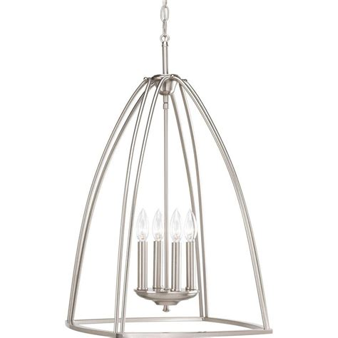 progress lighting calven collection 4 light brushed nickel bath light p3236 09wb the home depot progress lighting tally collection 4 light brushed nickel chandelier p3787 09 the home depot