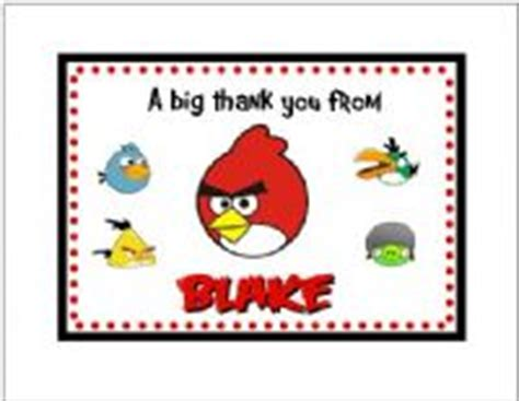 printable thank you card angry birds angry birds note or thank you cards style 1
