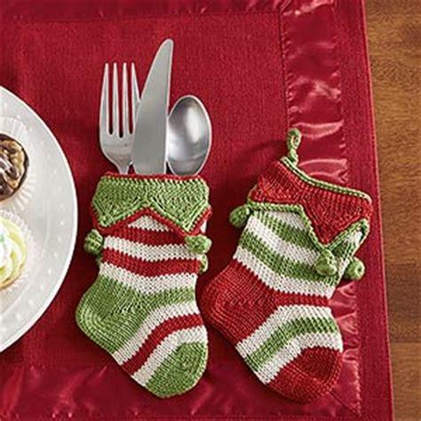 pattern for christmas stocking cutlery holder mini knit christmas stockings seasonal stripes