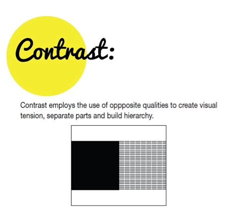 design in art definition definition of contrast 9 vis comm design pinterest