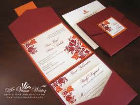 wedding invitations and programs on fall wedding invitations wedding invitations