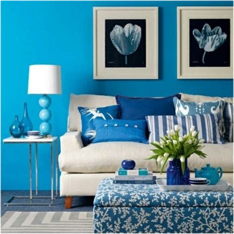 blue walls in living room wall ideas for your living room wall d 233 cor pictures