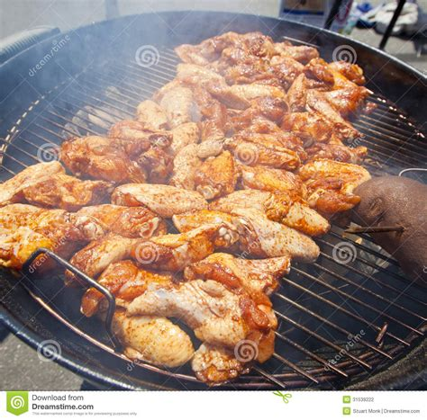 bbq chicken wings stock photography image 31539222