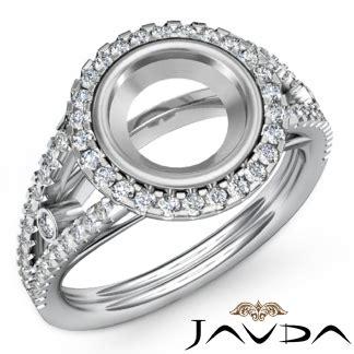 engagement ring halo pave set vs1 vs2 platinum engagement ring semi mount halo pave 0 8ct vs1 vs2 14k white gold