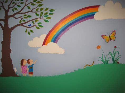 rainbow wall mural 2017 grasscloth wallpaper