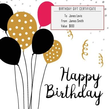 13 free printable gift certificate templates [birthday
