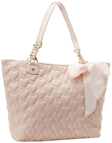 betsey johnson mine yours blush pink quilted hearts