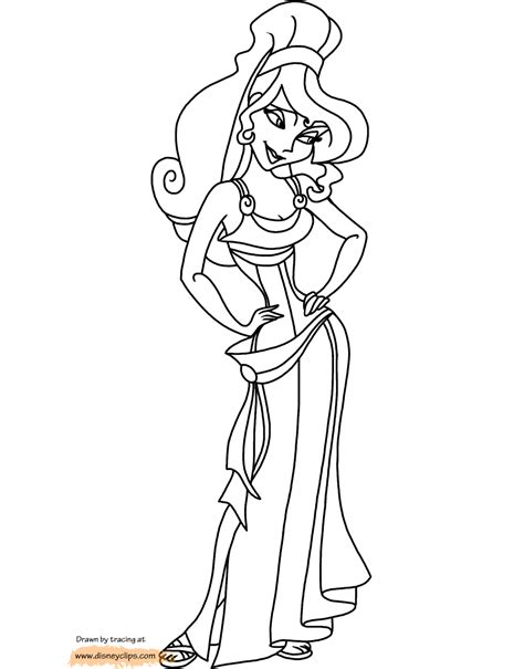 Disney S Hercules Coloring Pages Disney Coloring Book Megara Coloring Pages