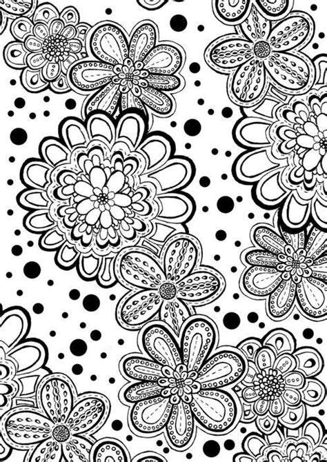 coloring pages for adults abstract flowers flower abstract doodle zentangle coloring pages colouring