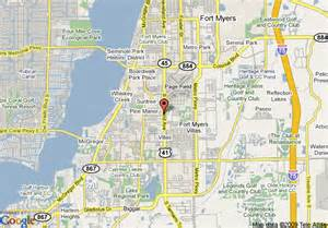 ft myers florida map map of comfort inn fort myers fort myers