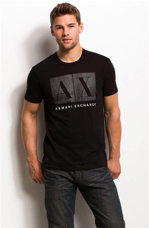 Tshirt Armani Exchange B C rhinestone box logo shirts mens armani