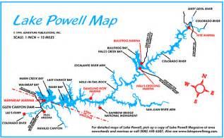 lake powell arizona map explore amerika lake powell