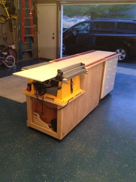 Pull Down Table by My Quot Don T Throw It Away Quot Modular Garage Workshop Planitdiy