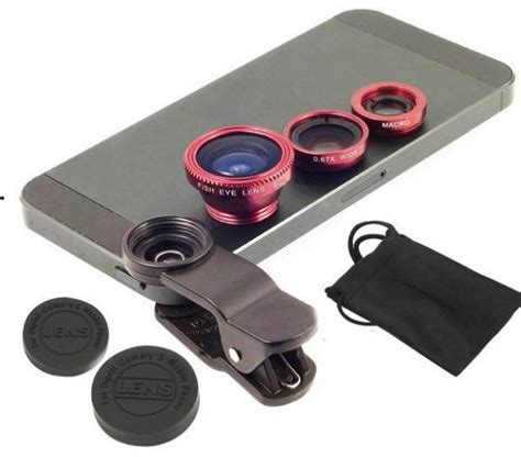 Lensa 3in1 Superwide Fish Eye Macro Souq Universal 3in1 Clip On Fish Eye Lens Wide Angle