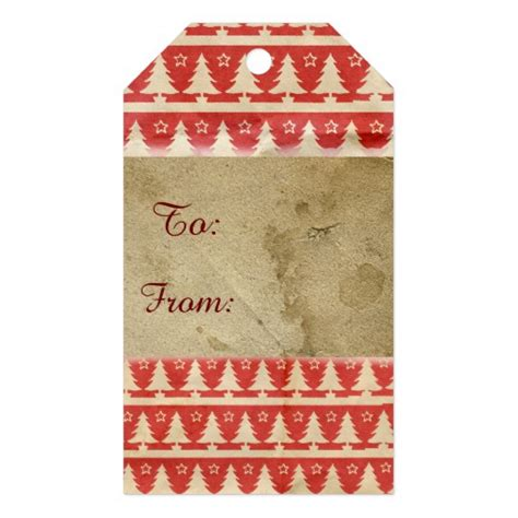 christmas vintage holiday gift tag zazzle