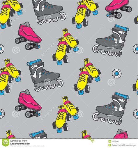 pattern for roller skate roller skate seamless pattern stock vector image 48424617