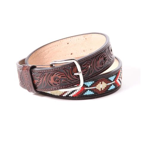 beaded cowboy belts 3d boy s brown beaded cowboy belt