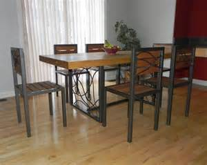 metal dining room table wood metal dining table