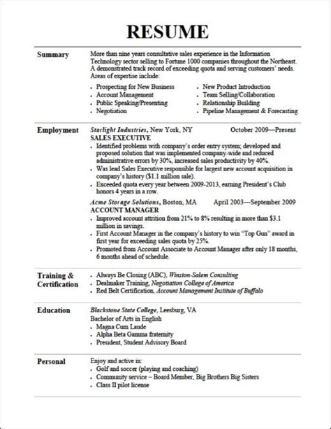 Resume Sles Listing Education Listing Education On Resume