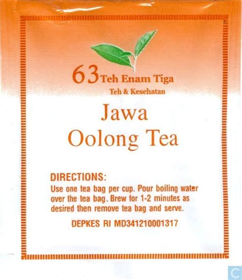 Teh Enam Tiga jawa oolong tea 63 teh enam tiga catawiki