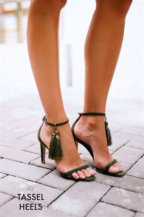 high heels sandal diy tassel heels high heel sandals