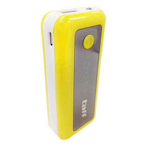 taff power bank 5600mah model mp6 for tablet and smartphone yellow with white side