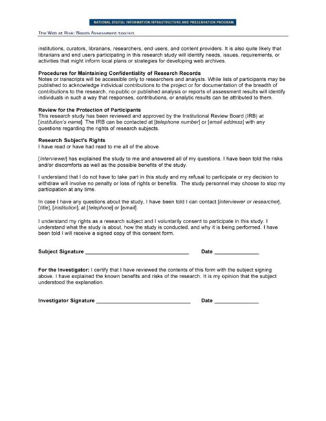 Research Consent Letter Template Research Consent Form Focus Groups And End User Interviews Page 2 Unt Digital Library