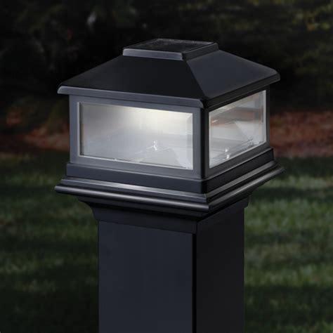 solar lights for deck posts deckorators solar post cap light