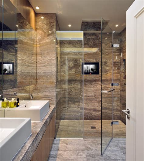 Bathroom Shower Design 30 Marble Bathroom Design Ideas Styling Up Your Daily Rituals Freshome