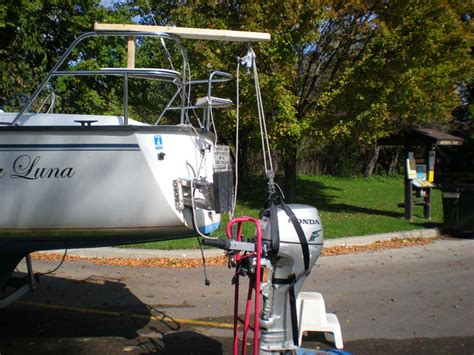 boat engine lift precision 23 outboard motor hoist