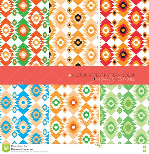 fabric pattern repeat definition repeat pattern modern graphic vector set 6 color aztec