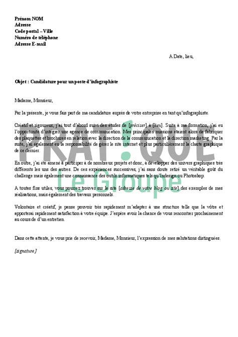 Lettre De Motivation Candidature Spontanée Pour Une Mairie lettre de motivation pour un emploi d infographiste