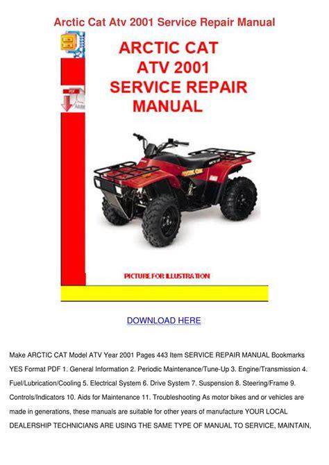 Arctic Cat Atv 2001 Service Repair Manual By Doriececil