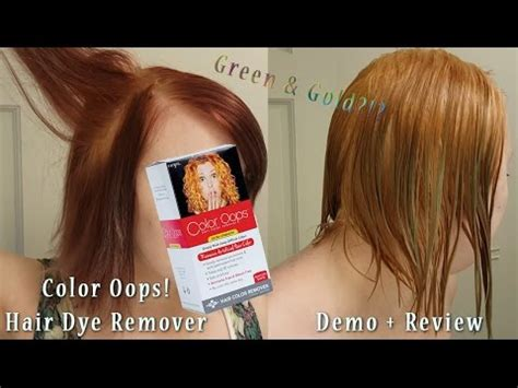color opps color removing purple hair dye demo review