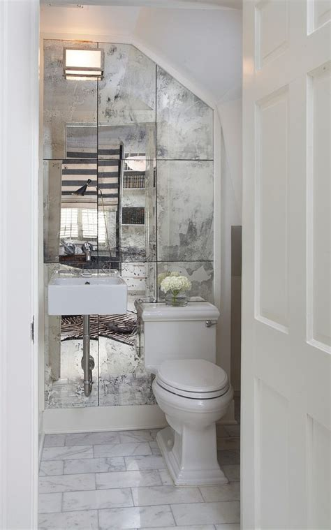 Traditional small powder room ideas powder room traditional with patterned floor tile chair rail